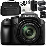 Panasonic Lumix DC-FZ80 Digital Camera 8PC Accessory Bundle – Includes 64GB SD Memory Card + 2x Replacement Batteries + MORE - International Version (No Warranty)