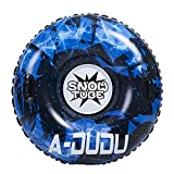 A-DUDU Snow Tube - Super Big 47 inch Inflatable Snow Sled with Rapid Valves - Heavy Duty Inflatable Snow Tube Made by Thickening Material of 0.6mm - Free Waterproof Carrying Bag[Kids&Adults]