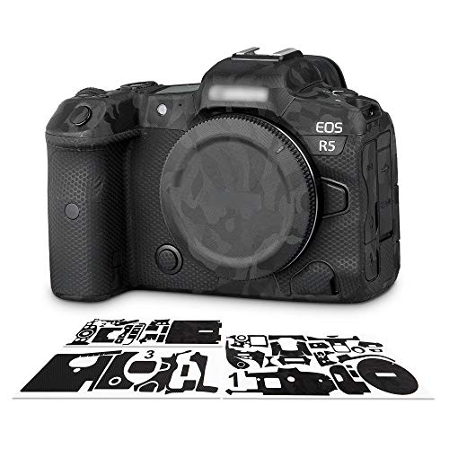 Anti-Wear Cover Skin Sticker Protector Film for Canon EOS R5 Camera Body Anti-Scratch Protection – Camouflage Black