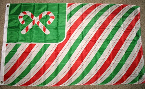Christmas Candy Cane Flag 3'x5' Banner