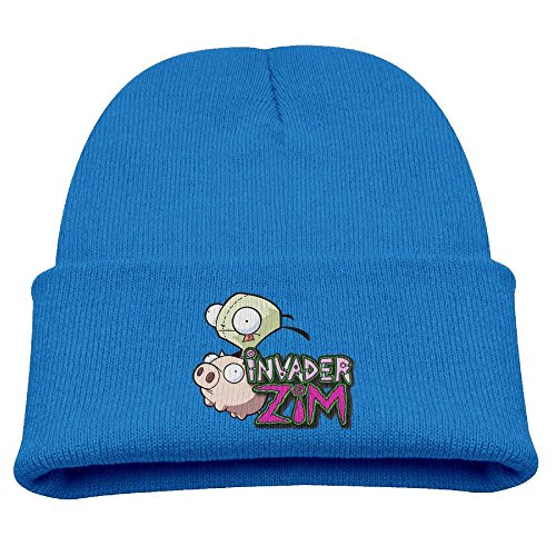 Gir Zim Invader Costume (Invader Zim Cartoon Warm Winter Hat Knit Beanie Skull Cap Cuff Beanie Hat Winter Hats)