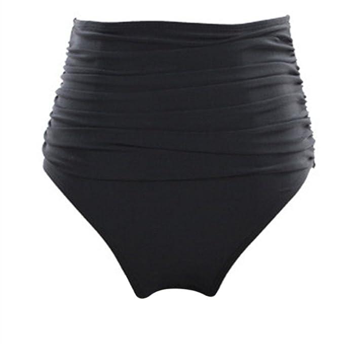 0dd5a9030000 iBaste Bikini Pantalones Cortos Mujer Cintura Alta Parte Abajo de Bikinis  con Alto Tejido Elástico para la Natación