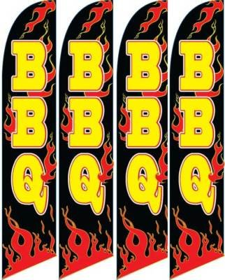 Discount BBQ Four (4) Swooper Feather Banner Flag Signs supplier