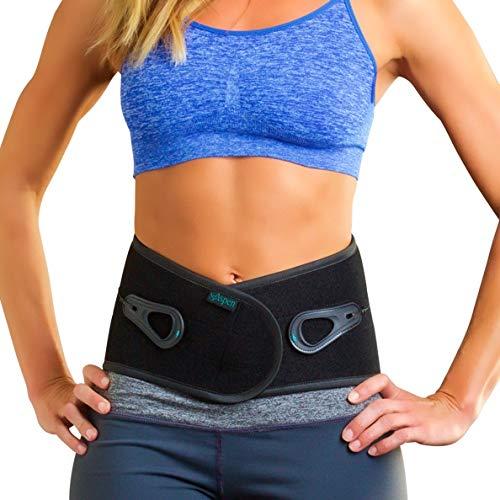 Aspen Lumbar Support Back Brace for Men & Women, Back Braces for Lower Back Pain fits Belly (NOT Waist) Size 31-37, Lumbar Back Brace, Back Support Belt, Lumbar Support Belt (Large)