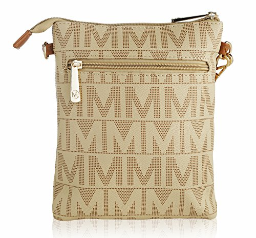 Charley Black by K ��M�� Farrow Signature Milan Mia Crossbody Collection MKF Sqwa15B