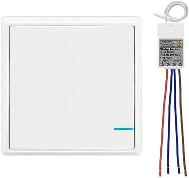 Wireless Lights Switch Kit No Battery No Wiring Quick Create 150 feet Operatin