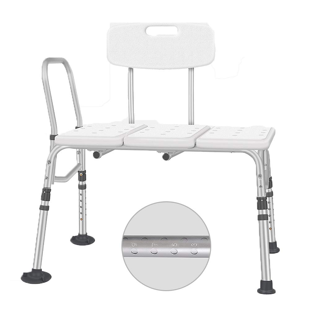 Disabled Bath Chair, Aluminum Bathroom Shower Chair, Old People/Pregnant Bath Stool, Non-Slip 10 Files Height Adjustable, for Elderly, Handicapped by HLDWXN