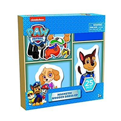 Paw Patrol 25 piece Magnetic Wood Dress Up Puzzle: Toys & Games