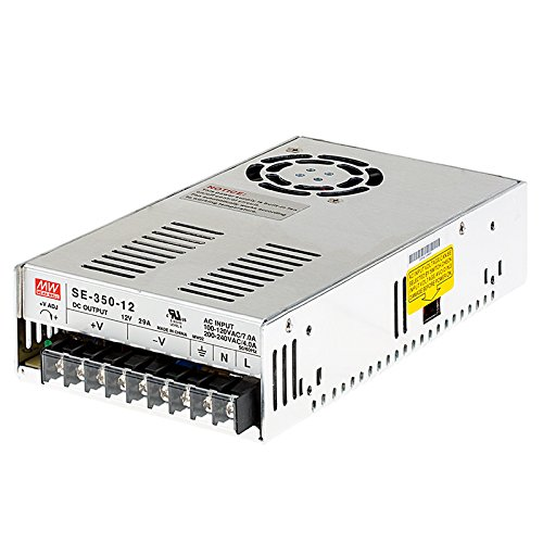 350w Low Frequency Driver - MeanWell SE-350-12 100V-120VAC or 200-240VAC INPUT, 12VDC OUTPUT, 350WATTS, Switch Selectable¡­