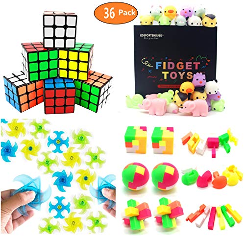 Party Favors For Kids Toy Assortment Bundle,Mochi Squishies,Puzzles,Finger Gyro Spiral Twister Toys For Birthday Party,Classroom Rewards,Carnival Prizes,Pinata Filler,Treasure Box,Goodie Bag Filler ()