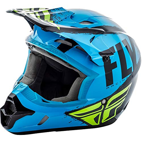 Vis Racing Types - Fly Racing 2019 Youth Kinetic Helmet - Burnish (MEDIUM) (BLUE/BLACK)