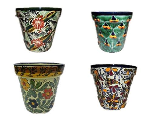 (Talavera Florentino, Peacock, Primavera & Violeta Flower Pot, 8