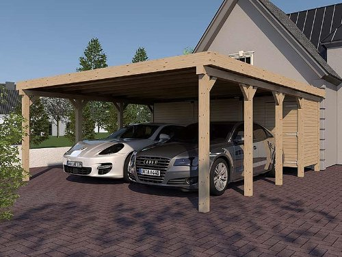 Flachdach Carport Holz, Carport holz kaufen, carport kosten