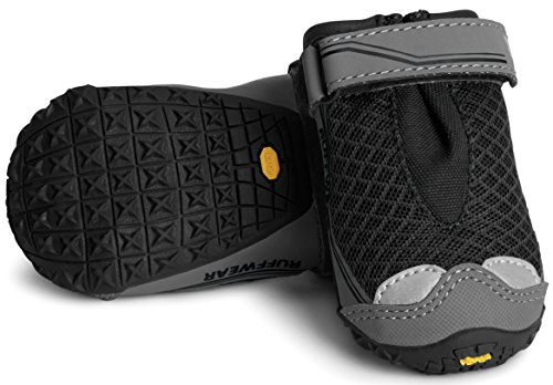 RUFFWEAR ♦ Grip TREX Dog Boots ♦ All Terrain Rugged PAW WEAR Set of Two ♦ All Sizes & Colors (3.25 Inch, Obsidian - T-rex Booties Grip