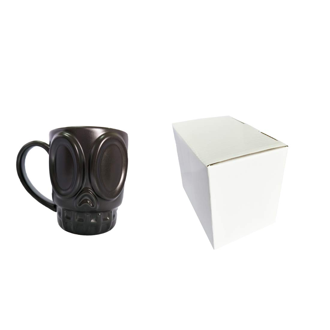 Prettyboy Ceramic 3D Personalized Unique Custom Design Porcelain Tea Cup Coffee Cup Mug with Tentacle Black Skull