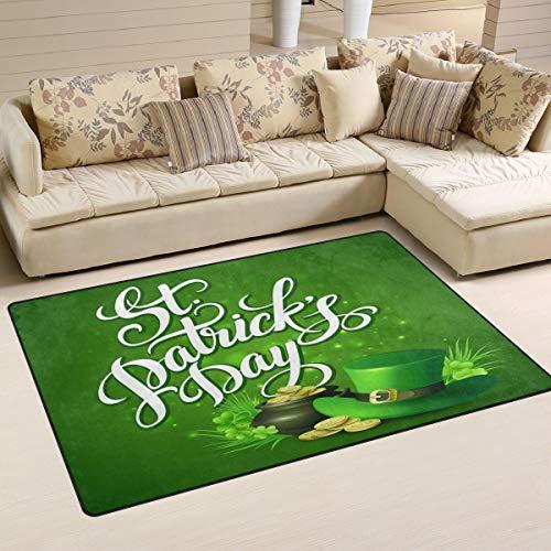 vQ87o0t St.Patrick's Day Greeting Doormat Entrance Mat Floor Mat Rug Indoor/Outdoor/Front Door/Bathroom Mats Rubber Non Slip 23.6