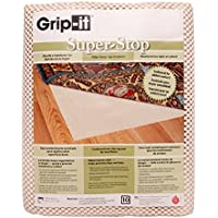 Grip-It Super Stop Ivory Cushioned Non-Slip Rug Pad for Rugs on Hard Surface Floors, 4 x 6