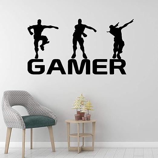 Gamer vinilo etiqueta de la pared para niños habitaciones ...