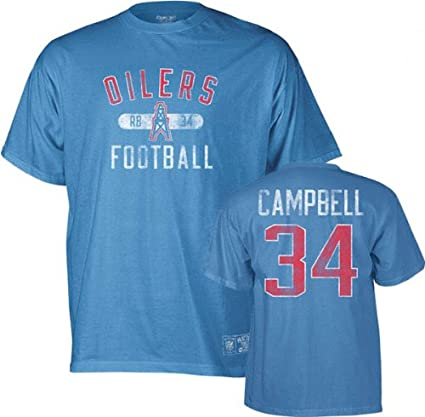 Amazon.com   Earl Campbell Houston Oilers Vintage Name and Number T ... f25f4cc2c