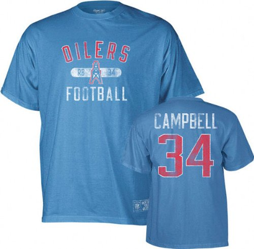 742eca09 Amazon.com : Earl Campbell Houston Oilers Vintage Name and Number T-Shirt :  Apparel : Sports & Outdoors