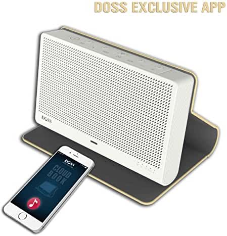 DOSS Cloud Book Wireless Portable Bluetooth 4.0 & Wi-Fi Straming Music speaker,support Pandora,Spotify,iHeart,Tuneln,Multi-room play,Built-in rechargeable battery,handsfree,12 hours play[Color:Gold]