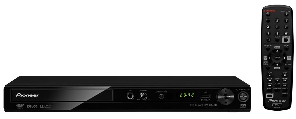 Pioneer DV-2042K 110-240 Volts Multi Region Code Zone Free DVD Player with DivX, Karaoke and USB Input