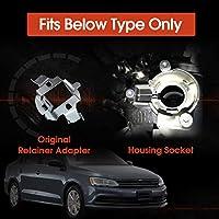 Plug /& Play,Directly Fit Waterproof PLATINUM H7 VW LED Headlight Bulb for VW Jetta Tiguan Passat w//Retainer Adapter 2pcs LEDXON