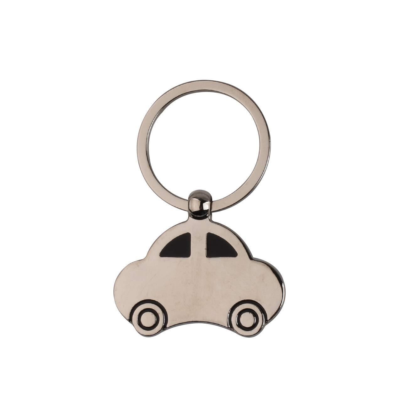 Heavy Duty Car Keychain Zinc Alloy Creative Beetle Car Model Key Chain Support Custom logo Small Gifts