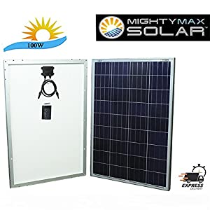 51IGSrJPr7L. SS300  - Mighty Max Battery 100 Watts 100W Solar Panel 12V - 18V Poly Off Grid Battery Charger for RV brand product