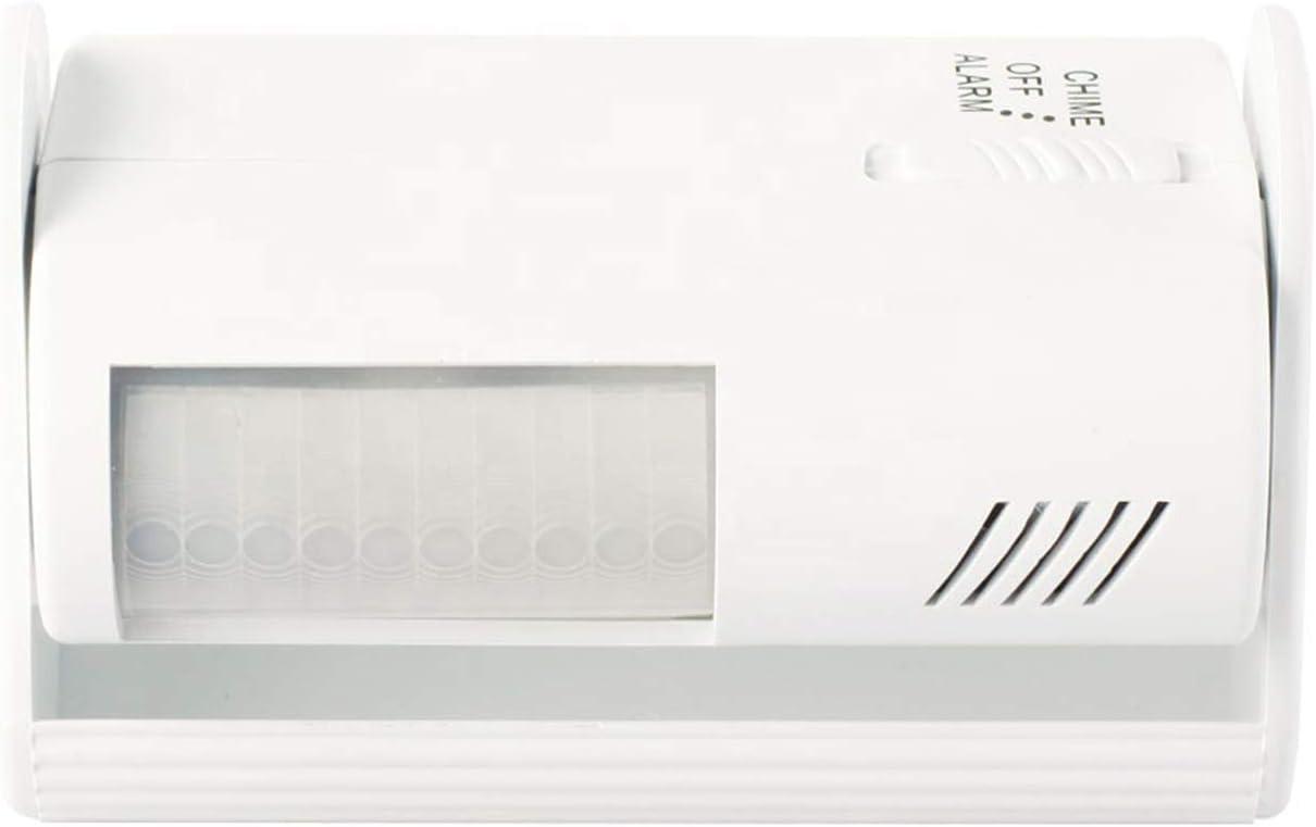 PS-TECH Sensor de Movimiento Funciona como Alarma o Timbre avisador Apertura Puerta Tienda Rango de detección 60º y 8 m. de Distancia
