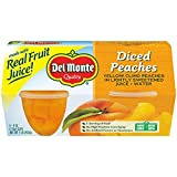 Del Monte Yellow Cling Peaches Fruit Cup, 4-Ounce, 4-Pack