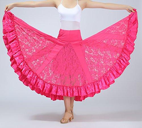Ballo Standard Pratica Flamenco La Moderni Da Dramma Gonne Sala Rosa Balla Concorrenza I7UwXqUxR