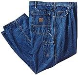 Berne Men's Big-Tall Original Carpenter Jean, Stone Washed Denim Dark, 50x30