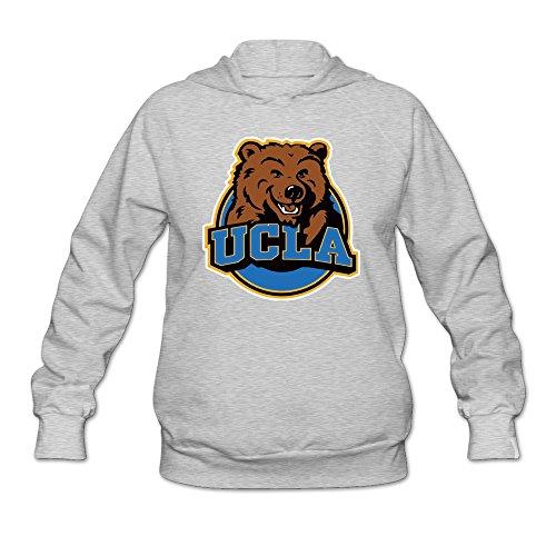 Womens UCLA Los Angeles Bruins Hoodies Ash 100% Cotton