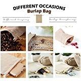ANPHSIN 75 Pieces Small Burlap Bags with