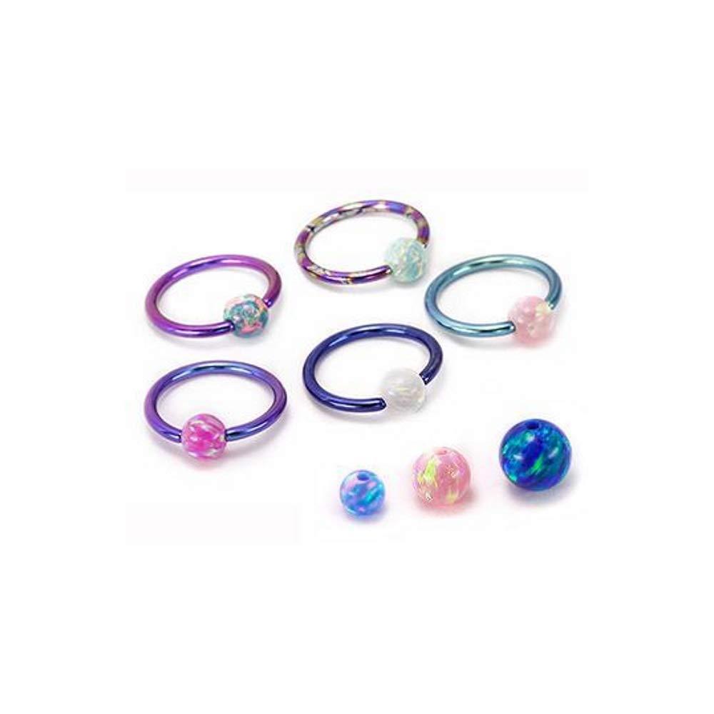 Painful Pleasures Opal Captive Bead Price Per 1 3mm-5mm