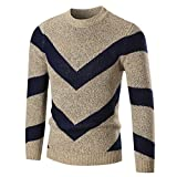 Hot Sales,Yang-Yi 2017 Men's Autumn Winter Sweater Pullover Slim Jumper Knitwear Outwear (Khaki, L)