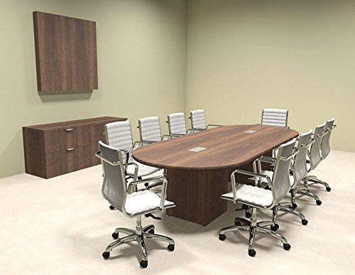 Modern Racetrack Cube Leg 10' Feet Conference Table, OF-CON-CQ2
