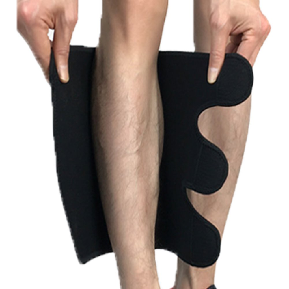 Compression Calf Brace Pads (1 Pair) for Hiking, Training, Footless Calve Sleeves Shin Pads for Men and Women by Heekooi