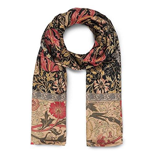 The Metropolitan Museum Of Art William Morris Compton Printed Silk Neck Scarf