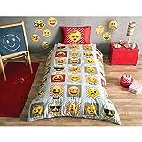 Emoji Single Duvet Cover Single Twin Kids Girls Original Licensed EMOJI 100% Cotton Soft Healthy Duvet Cover Bedding Set 3 Pcs