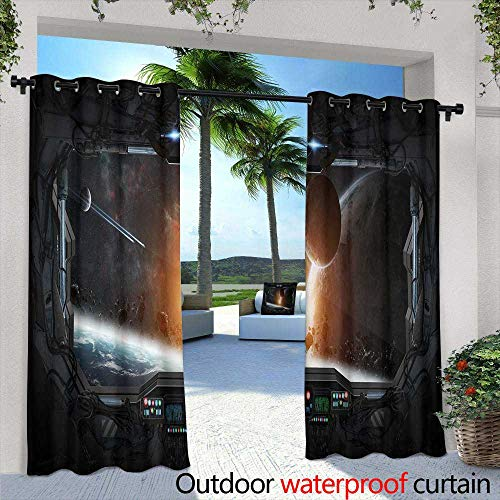 Outdoor Blackout Curtains,Vector seamless border in Victorian style Element for design You can place the text in an empty frame It can be used for decorating of invitations, greeting cards, - Place Scalloped Frame Card