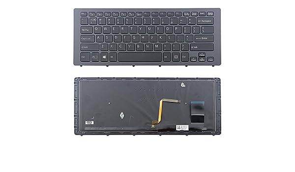 New US Backlit Black /& Frame Keyboard for Sony VPCF233FX VPCF233FX//B VPCF233FX//S