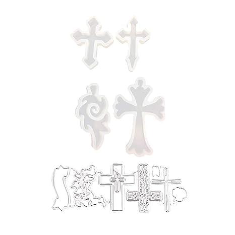 8666479513bf IPOTCH 1 Juego Cruz de Molde de Silicona de Anexo Joya de Decorativo ...