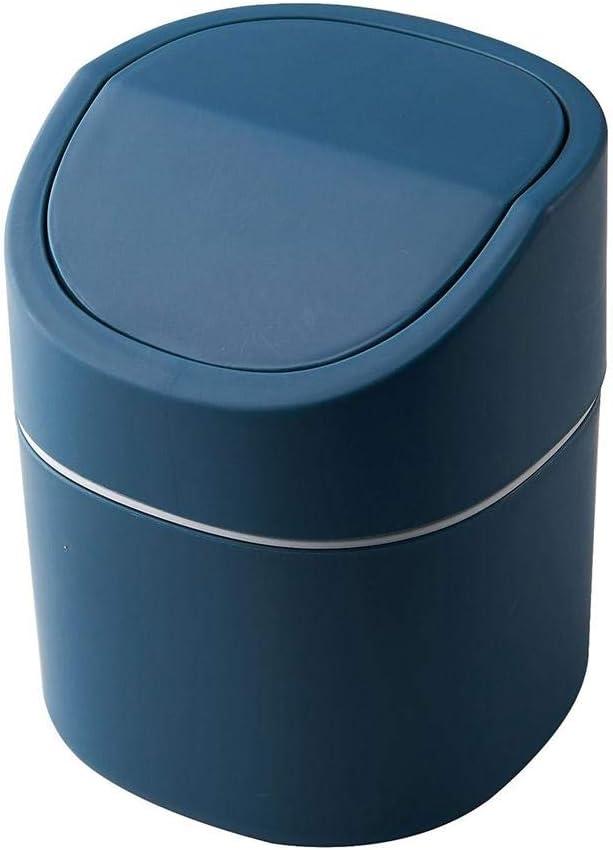 thelastplanet Mini Poubelles Poubelle /À Couvercle Oscillant Poubelle en Plastique Minuscule Poubelles De Cuisine Poubelle Ronde Compacte avec Couvercle Pivotant pour La Corbeille /À Papier
