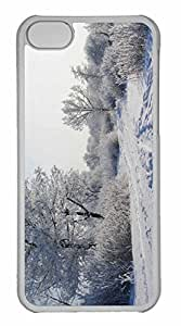 iPhone 5C Case, Personalized Custom Winter Landscape 3 for iPhone 5C PC Clear Case by runtopwell