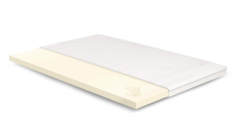 AS Meister 7cm Visco Topper 130x200 cm - Tencel Bezug mit 3D-Mesh-Klimaband & Stegkante - 5cm Visco RG 50 - Matratzenauflage 130x200 für Ihr Bett