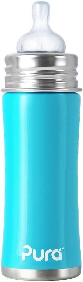 325 ml Biber/ón de acero inoxidable Pura Kiki rosa