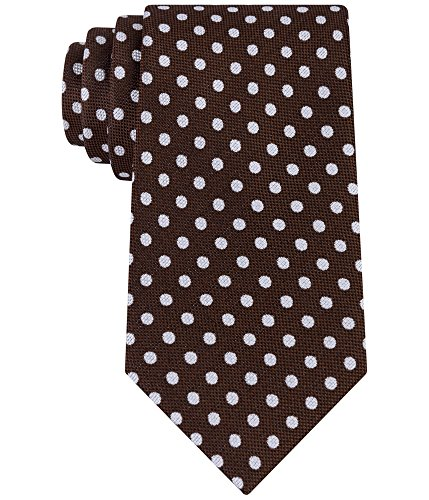 Sean John Mens Basket Weave Necktie Brown One Size