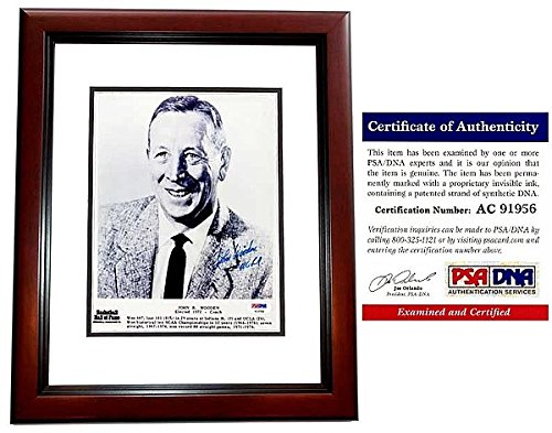 John Wooden Autographed Signed UCLA Bruins 8x10 Photo - PSA/DNA Authentic - Mahogany Custom Frame - Deceased 2010